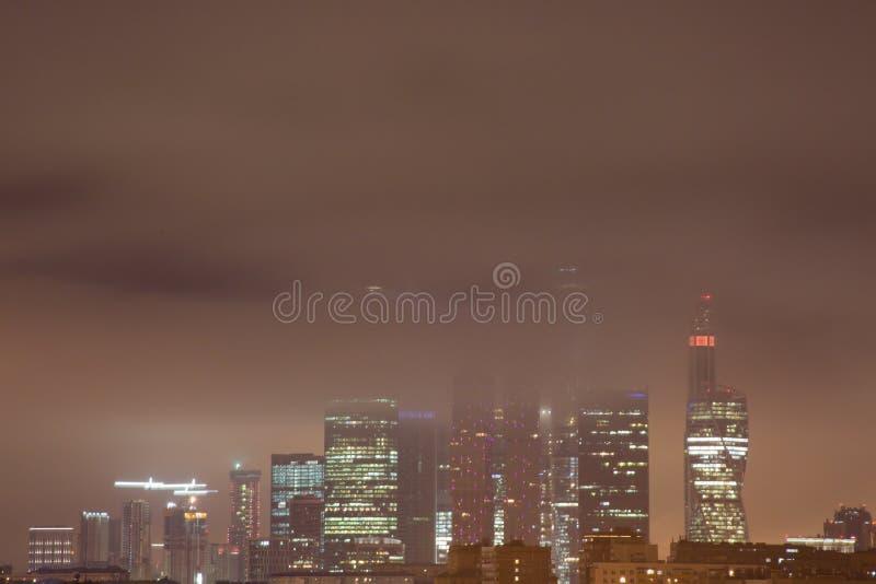 Moscou-ville Gratte-ciel de Moscou photo stock