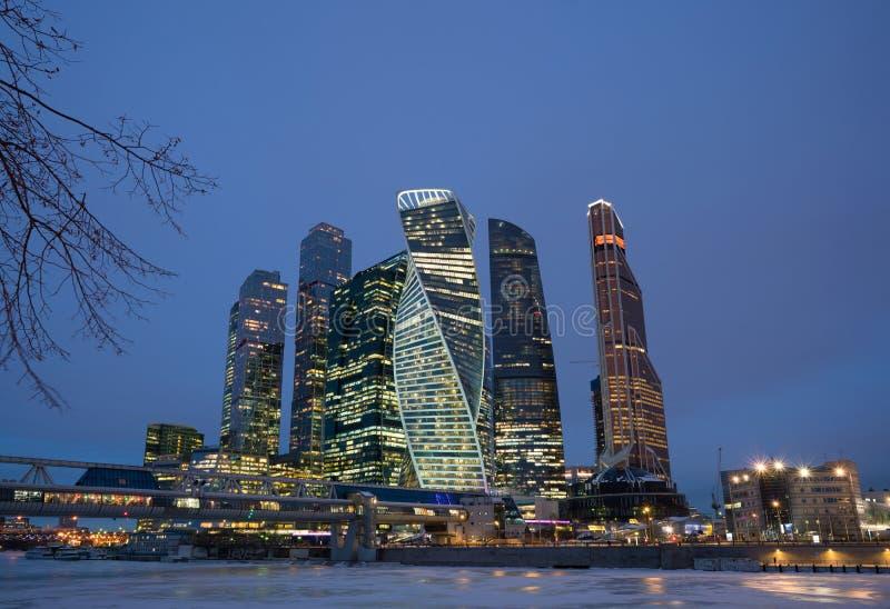 Moscou-ville, Russie Centre international d'affaires de Moscou image libre de droits