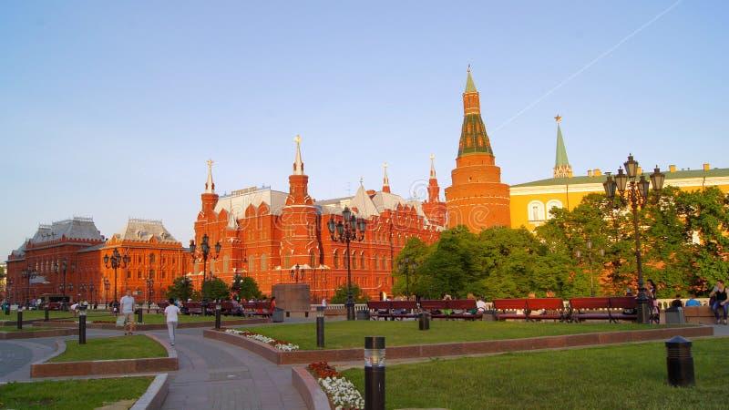 Moscov, Park, das Moskau der Kreml lizenzfreie stockbilder