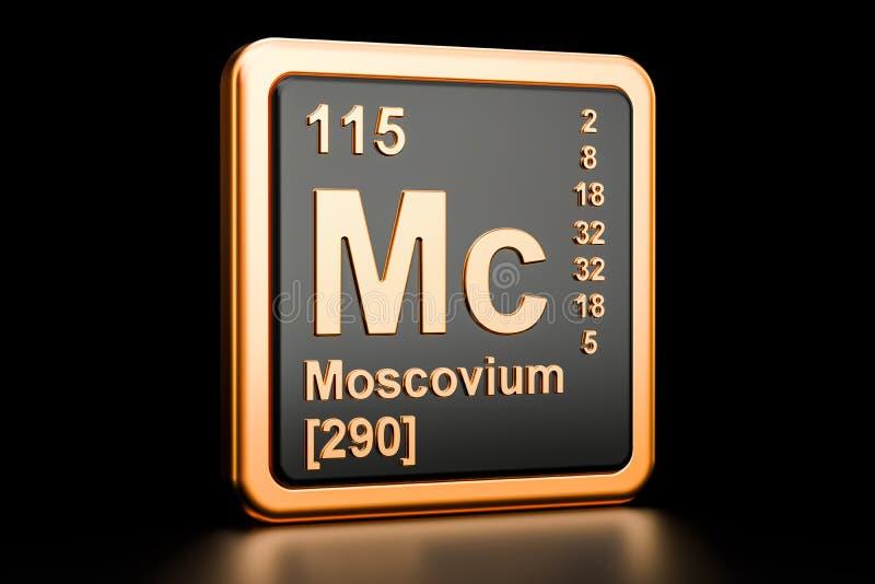 Moscoviummc chemisch element het 3d teruggeven stock illustratie