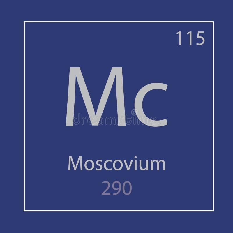 Moscoviummc chemisch elementenpictogram stock illustratie