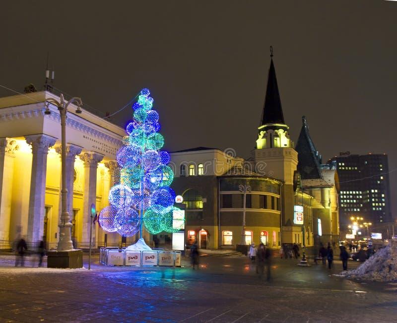 Moscovo, árvore de Natal foto de stock