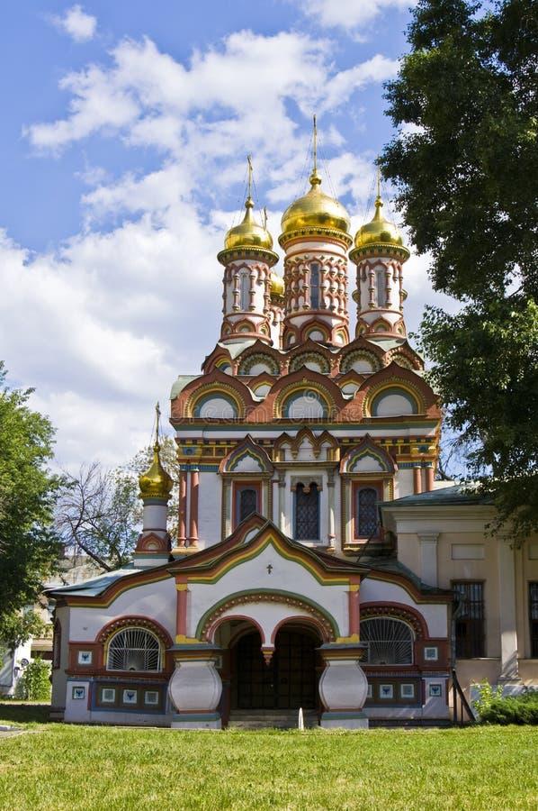 Moscovo, igreja de St. Nikolas foto de stock royalty free