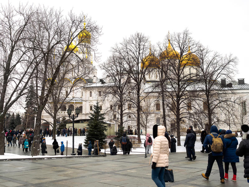 Moscovo interna Kremlin foto de stock royalty free