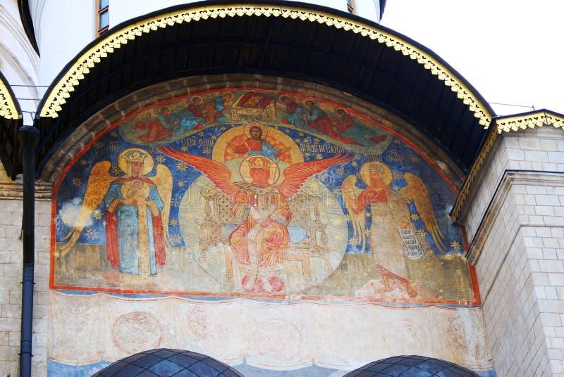 Moscovo Kremlin Foto a cores Catedral de Dormition (suposição) fotos de stock royalty free