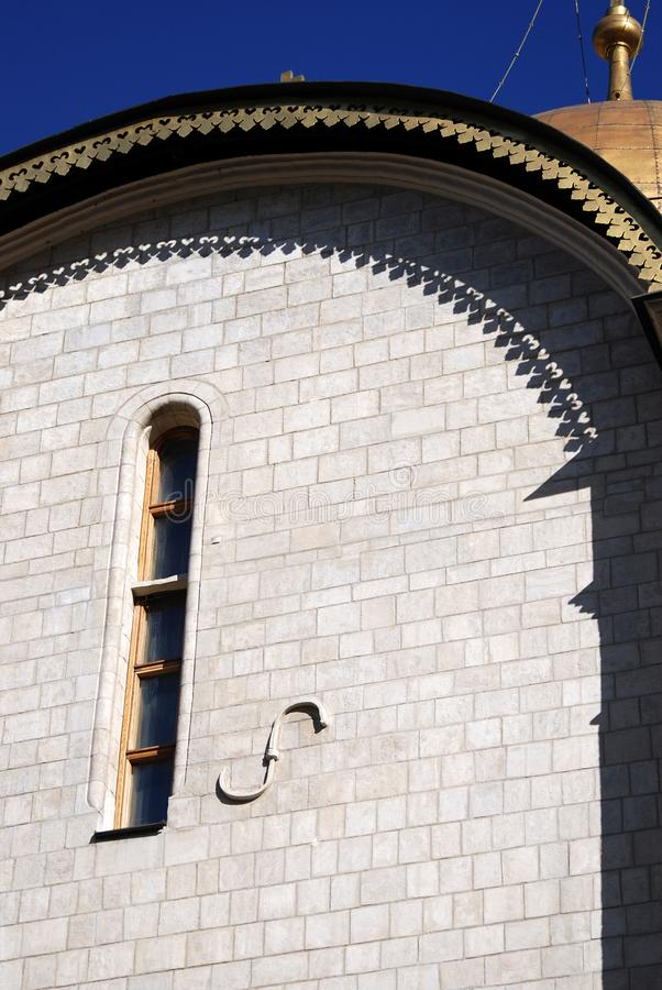 Moscovo Kremlin Local do património mundial do Unesco Igreja de Dormition fotos de stock royalty free