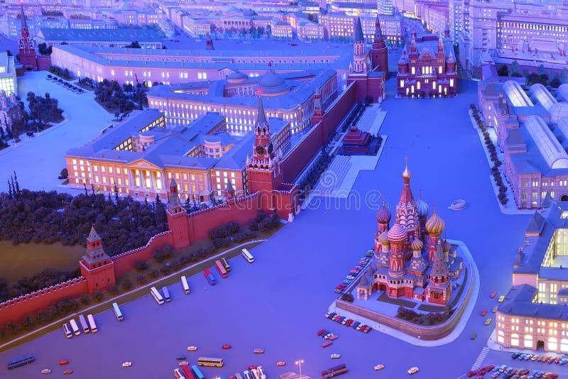 Moscovo modelo é capital de URSS - quadrado vermelho fotos de stock royalty free