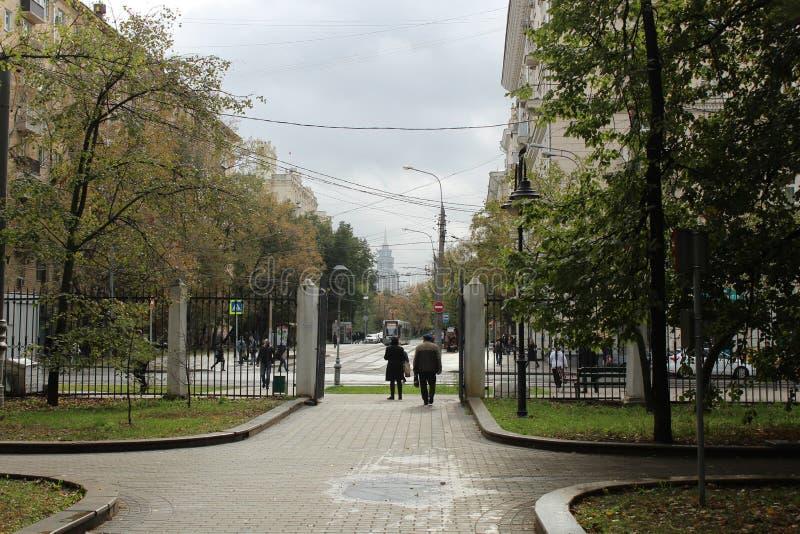 Октябрь 2018 E moscow Район Voykovsky Юг редактирует парк Vorovskogo стоковые фотографии rf