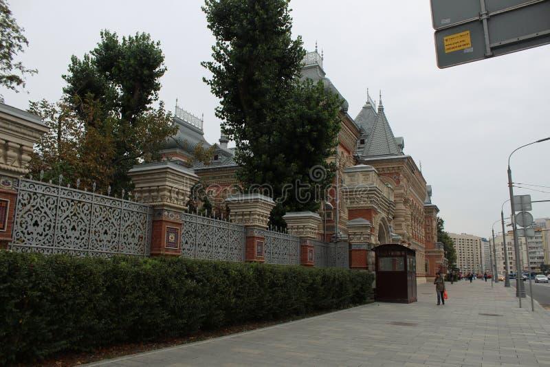 Сентябрь 2018 E moscow Район Yakimanka Посольство дома Igumnova aka французское стоковое изображение rf