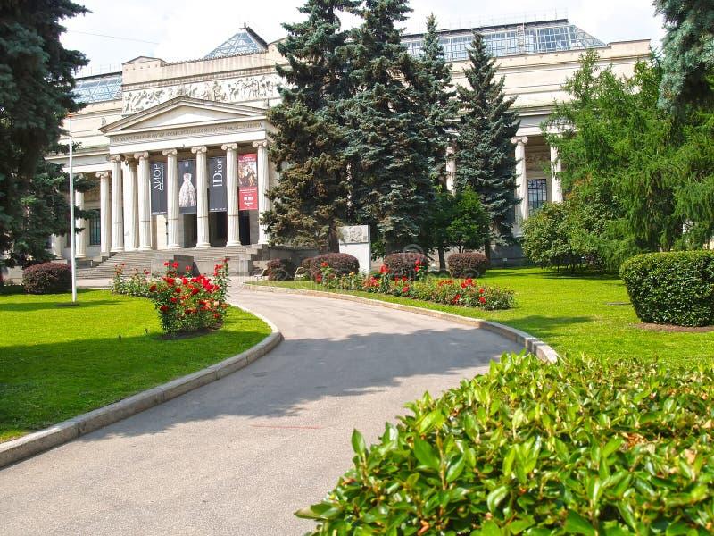 moscow Россия Взгляд музея государства Pushkin изящных искусств стоковые фото