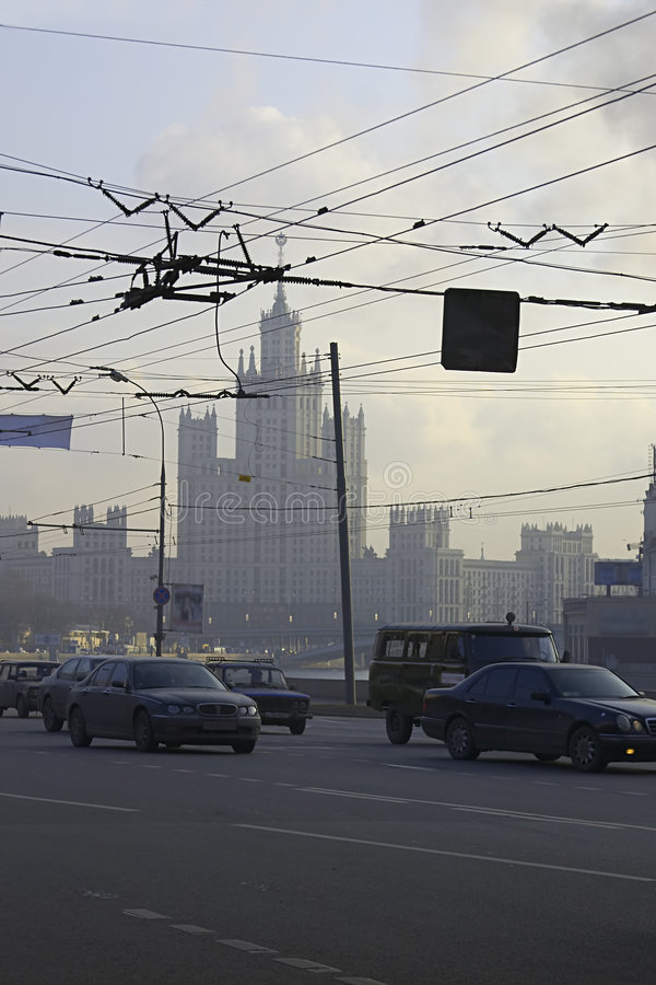 Download Moscow stock image. Image of skyscraper, wire, city, asphalt - 458597
