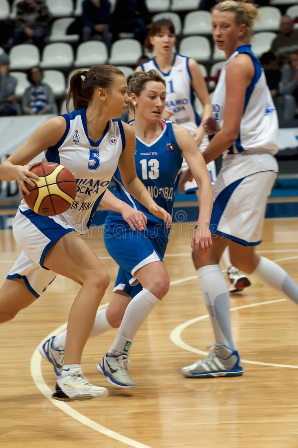 Ekaterina Fedorenkova (5) dribble royalty free stock photos