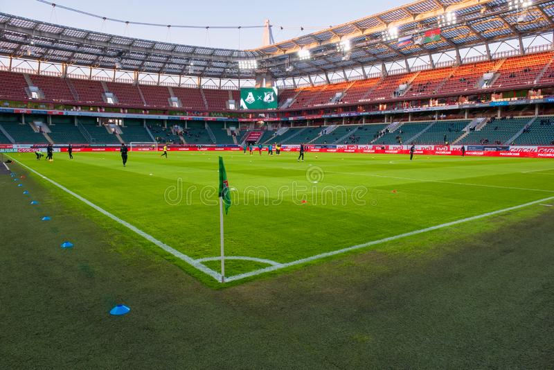 Panoramic view of the Lokomotiv stadium royalty free stock image