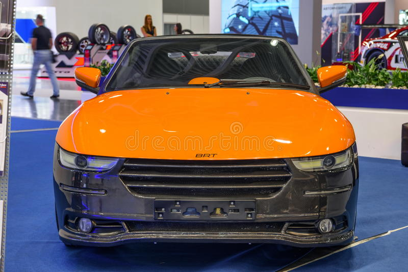 MOSCOW - AUG 2016: BRT Roadster Crimea presented at MIAS Moscow International Automobile Salon on August 20, 2016 in Moscow, Russi. A stock photos