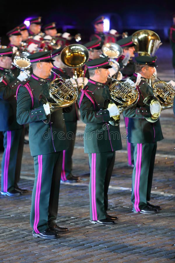 Belgian royal orchestra at Military Music Festival royalty free stock photos
