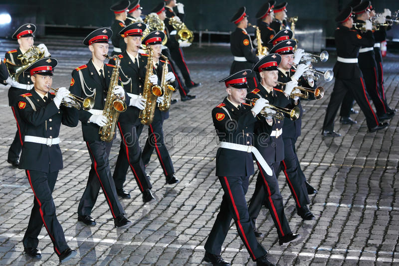 Download Orchestra Of Moscow Suvorov Military Music College At Military Music Festival Editorial Photography - Image of celebration, paving: 29733932