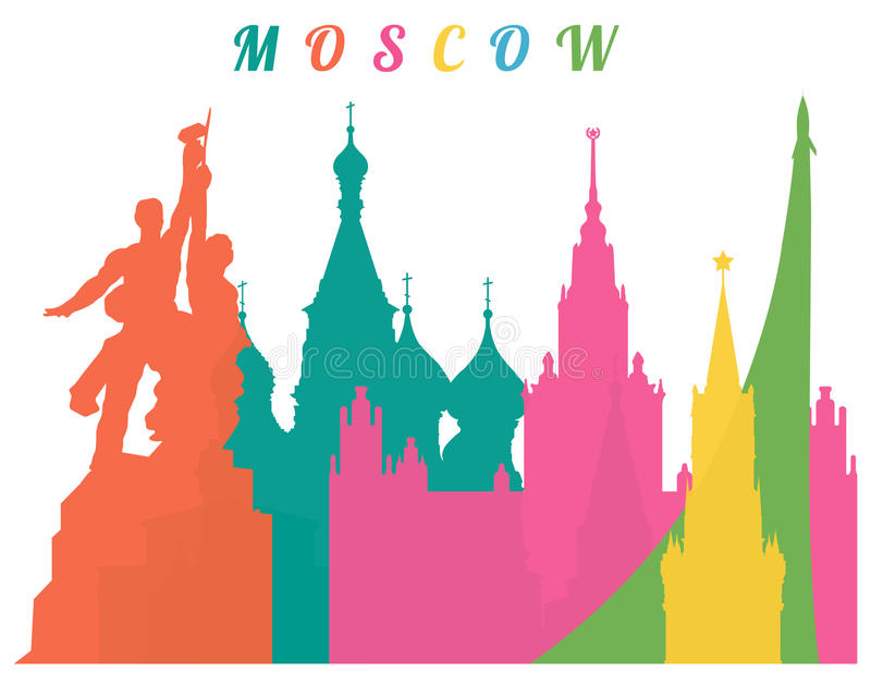 Moscow background royalty free stock images