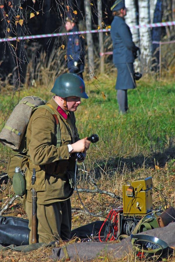 Moscow battle historical reenactment
