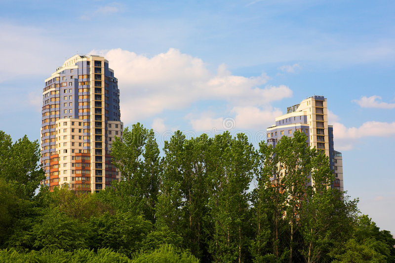 Moscow buildings stock images