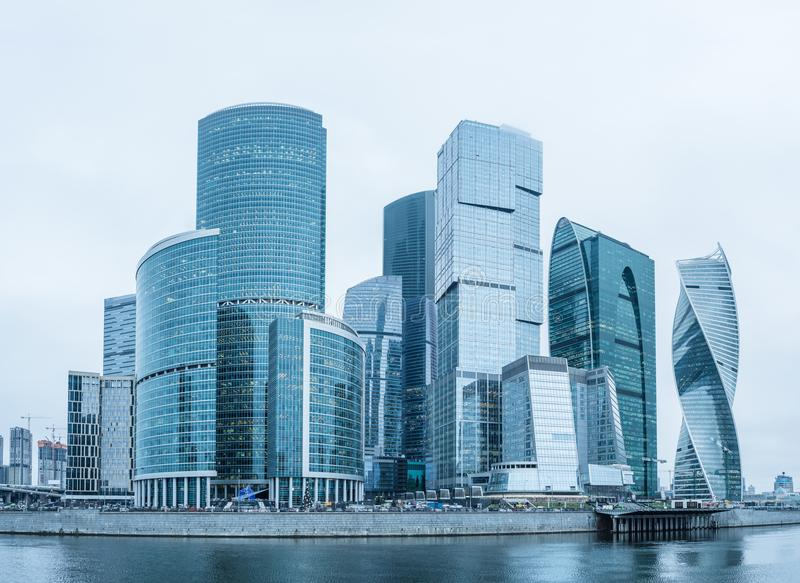 Moscow business center. stock photo