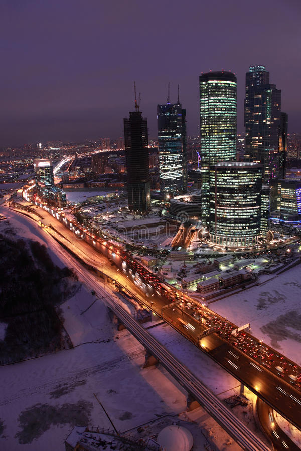 Moscow Center Of  International Business Editorial Stock Image