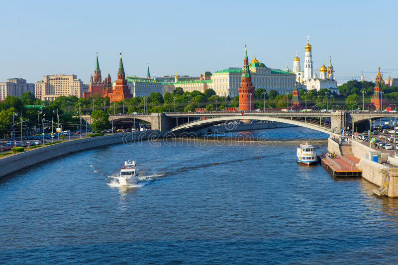 The Moscow center sights royalty free stock image