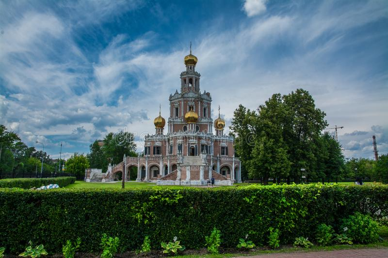 Church of the Protection of the Holy Virgin in Fili stock photo
