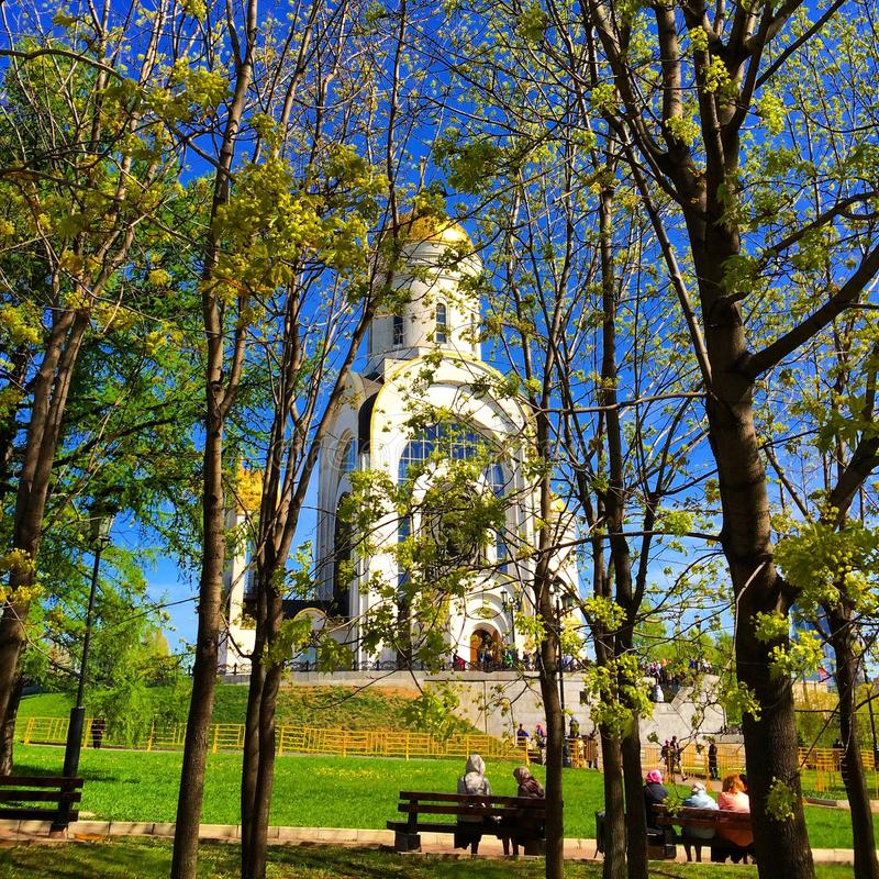 Moscow. The Church of St. George in victory Park. royalty free stock photos