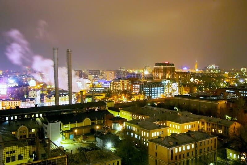 moscow Cidade da noite imagens de stock royalty free
