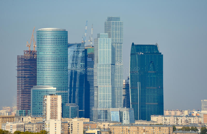 Moscow-City royalty free stock photos