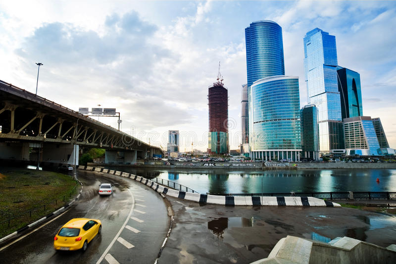 Download Moscow City stock image. Image of skyline, downtown, blue - 24071509