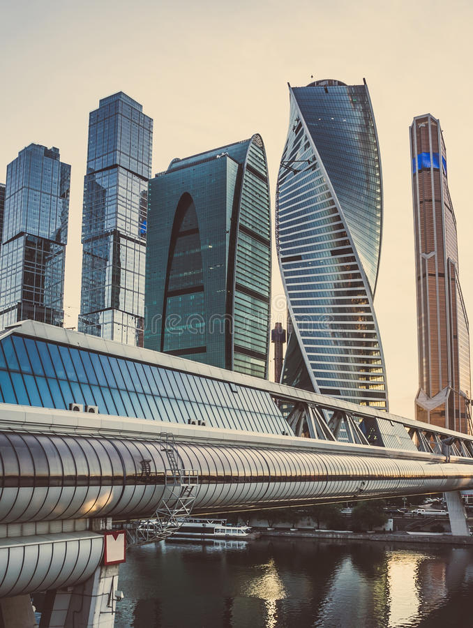Moscow city stock images
