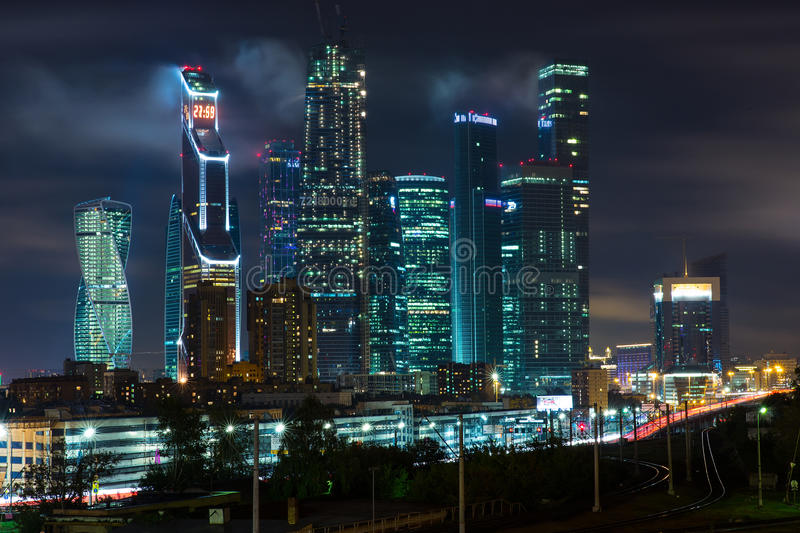 Moscow-city business center royalty free stock photos