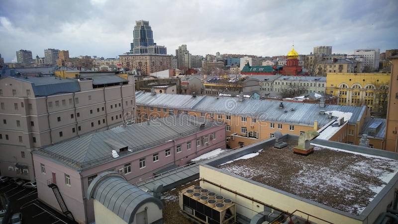 Moscow City center view royalty free stock photo