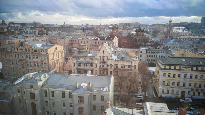 Moscow City center view stock photos