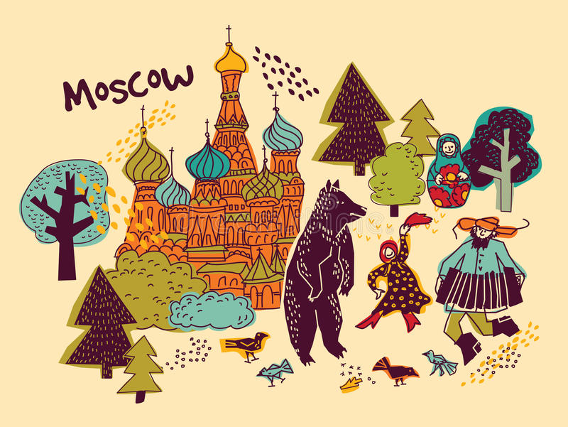Moscow City Skyscrapers And Famous Buildings In Grey Color ... |Moscow City Coloring
