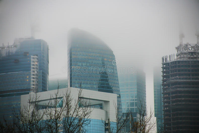 Download Moscow - City In The Fog In Winter Stock Image - Image: 83713339
