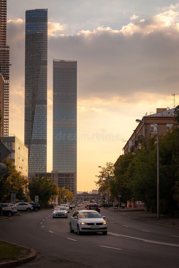 Moscow City (MIBC) skyscrapers stock photo