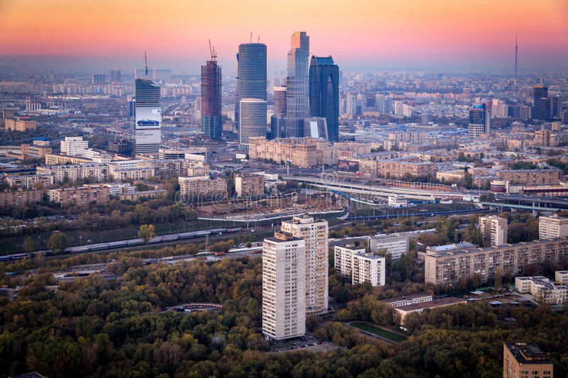 Moscow City (MIBC) skyscrapers royalty free stock images
