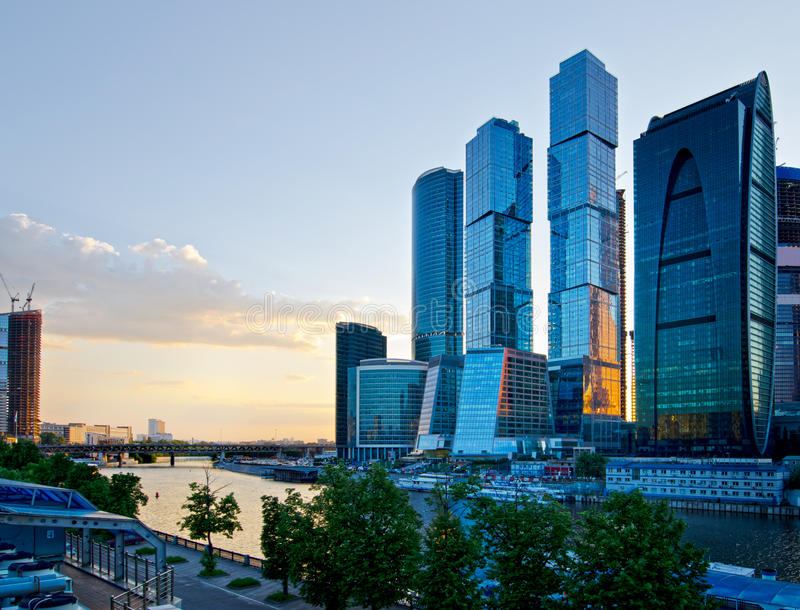 Moscow City. Moscow, Russia. Royalty Free Stock Images