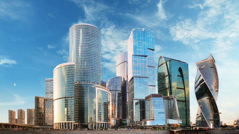 Moscow city, Russia. At day royalty free stock images