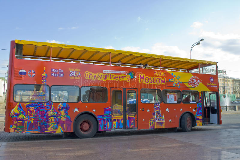 Moscow, city sight-seeing bus