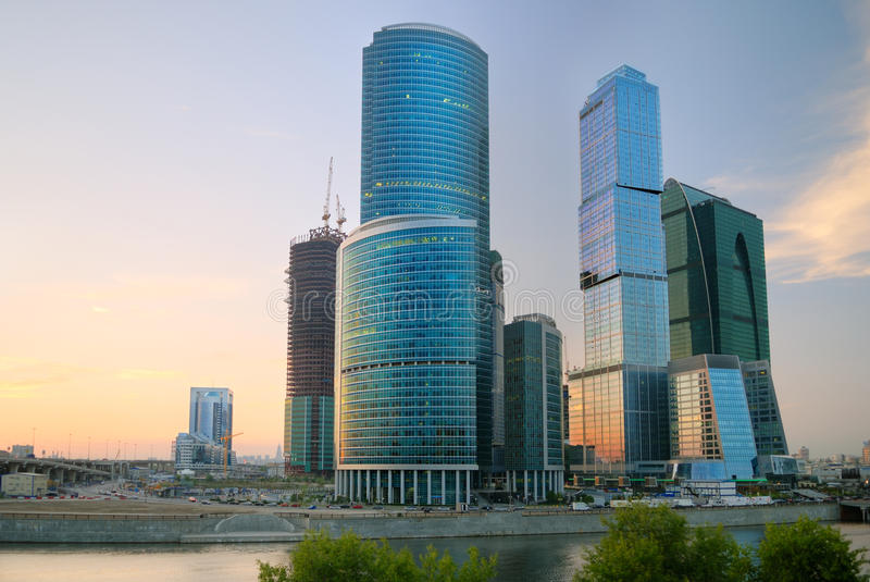Download Moscow-city At The Sunset Royalty Free Stock Images - Image: 16563029