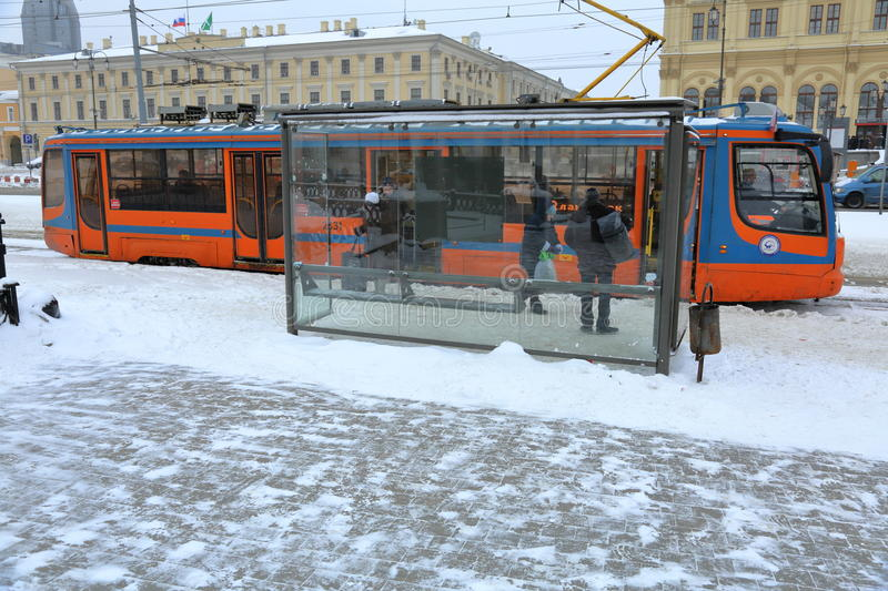 Download Moscow City Tram Editorial Image - Image: 83720605