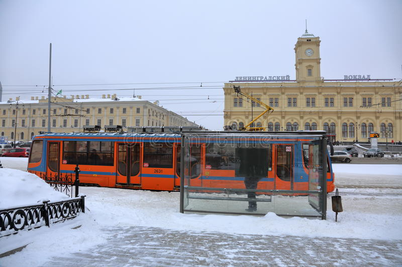 Download Moscow City Tram Editorial Photography - Image: 83721102