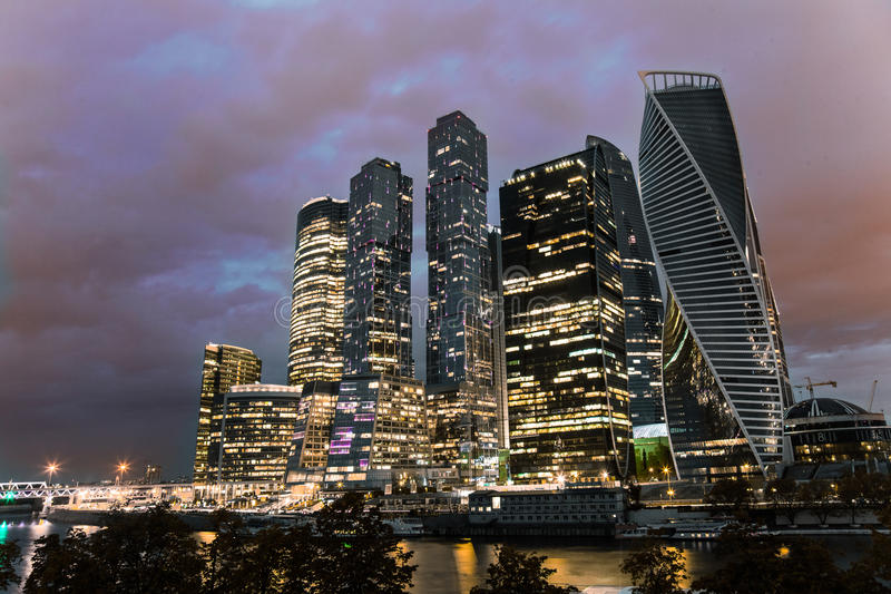 Moscow-City royalty free stock image