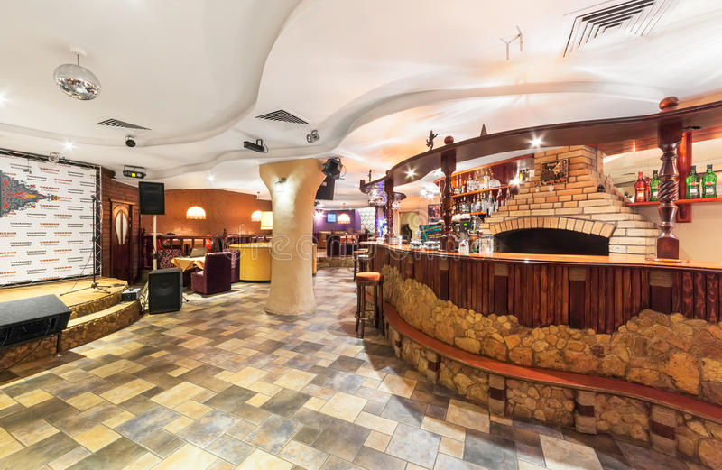 download moscow december 2014 eastern interior of the uzbek restaurant bar of stone