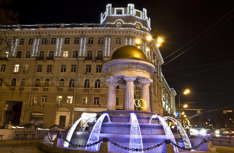 Moscow, electric fountain royalty free stock images