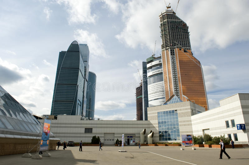 Download Moscow exhibition center editorial stock image. Image of community - 22262639