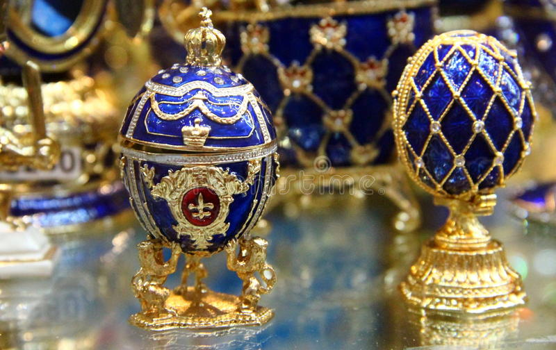 Moscow: Fabergè egg. A Fabergé egg is one of a limited number of jeweled eggs created by Peter Carl Fabergé and his company between 1885 and 1917 stock photos